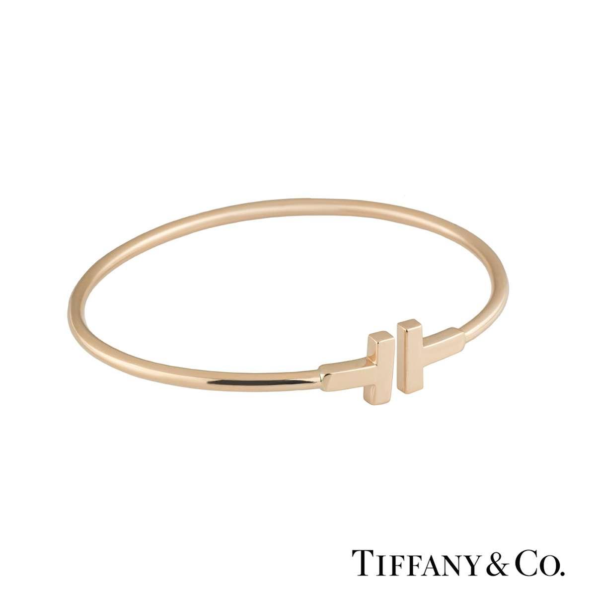06cadb1fc Rose Gold Tiffany T Narrow Wire Bracelet ...
